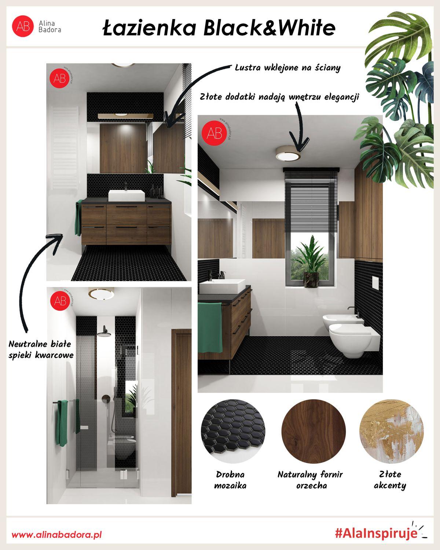 Inspiracje Ali - łazienka Black & White