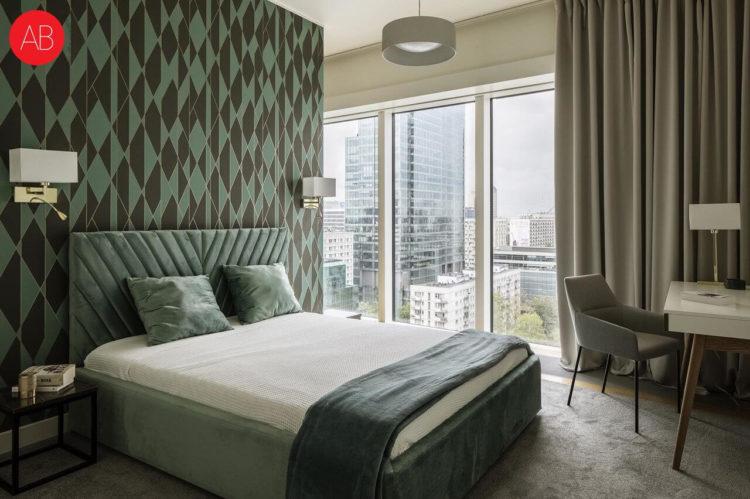 Apartament Nicea (sypialnia) - projekt wnętrza Alina Badora