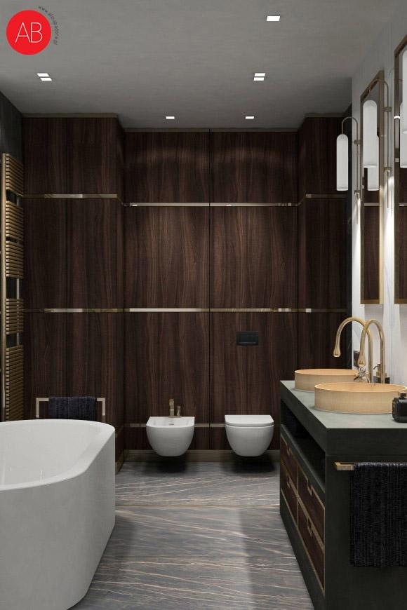 Diamonds and pearls (łazienka) - projekt wnęrza domu | Alina Badora, architekt wnętrz
