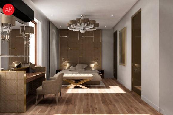 Diamonds and pearls (sypialnia) - projekt wnęrza domu | Alina Badora, architekt wnętrz