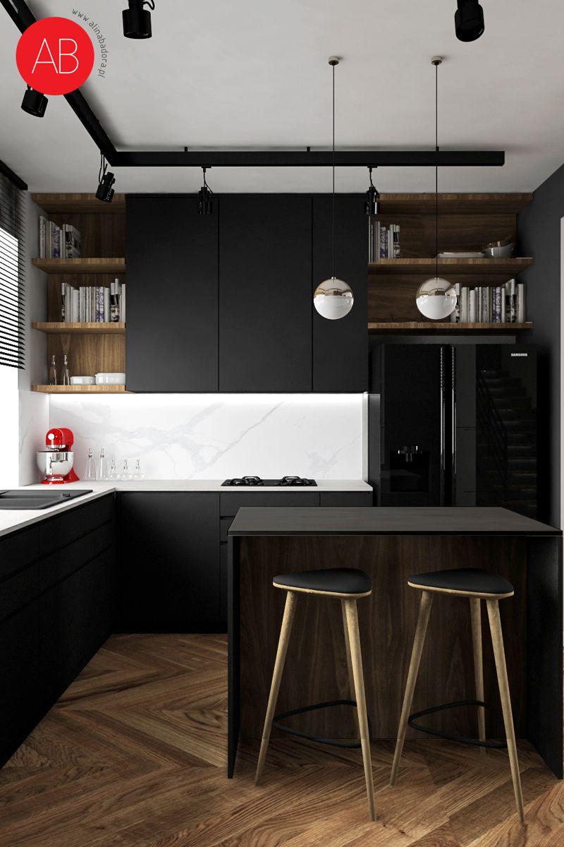 Dom Black & White (kuchnia) | Alina Badora, architekt wnętrz