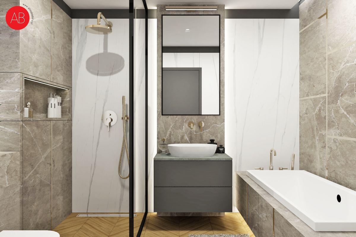 Dom Black & White (łazienka) | Alina Badora, architekt wnętrz