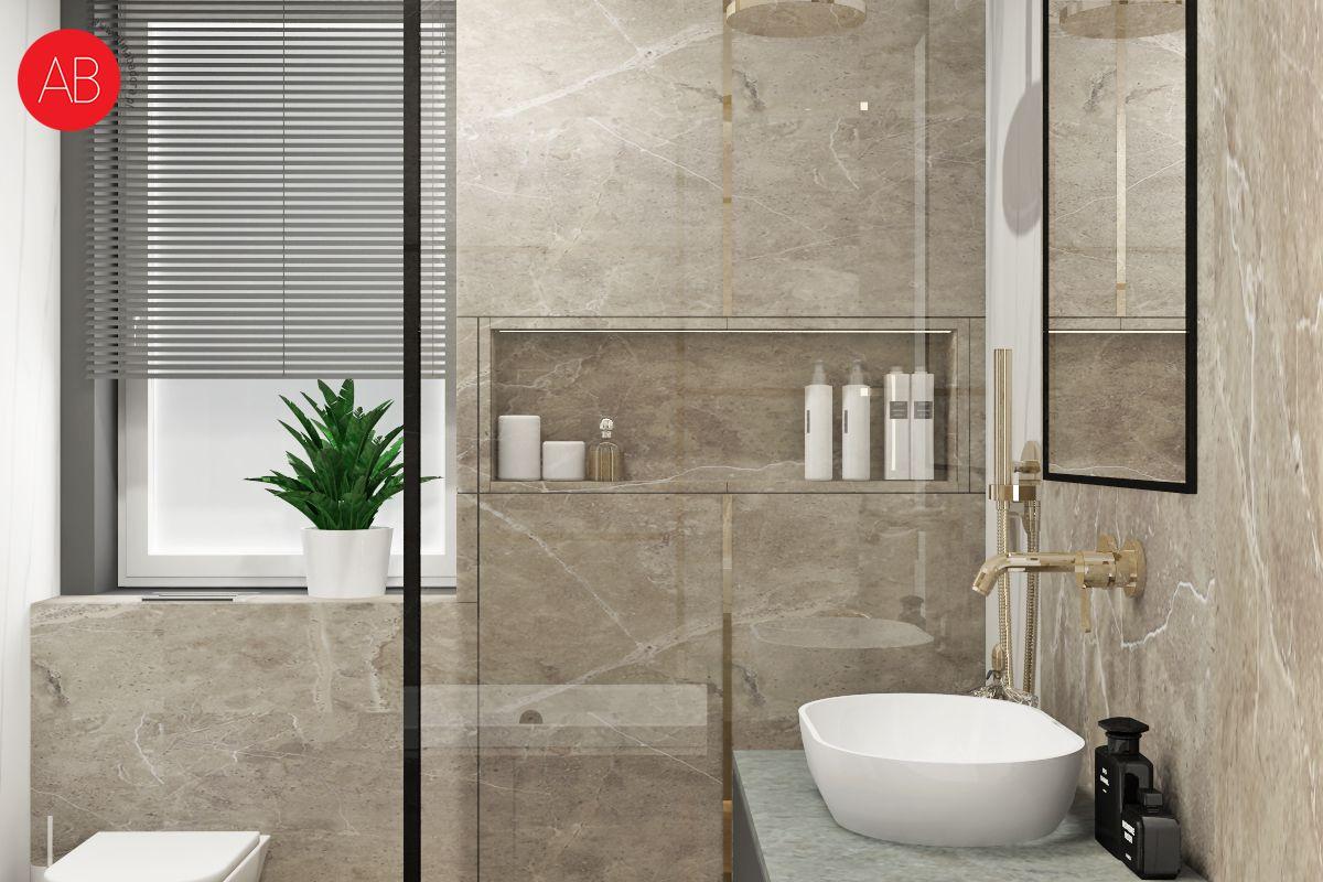 Minimalizm, Dom Black & White (łazienka) | Alina Badora, architekt wnętrz