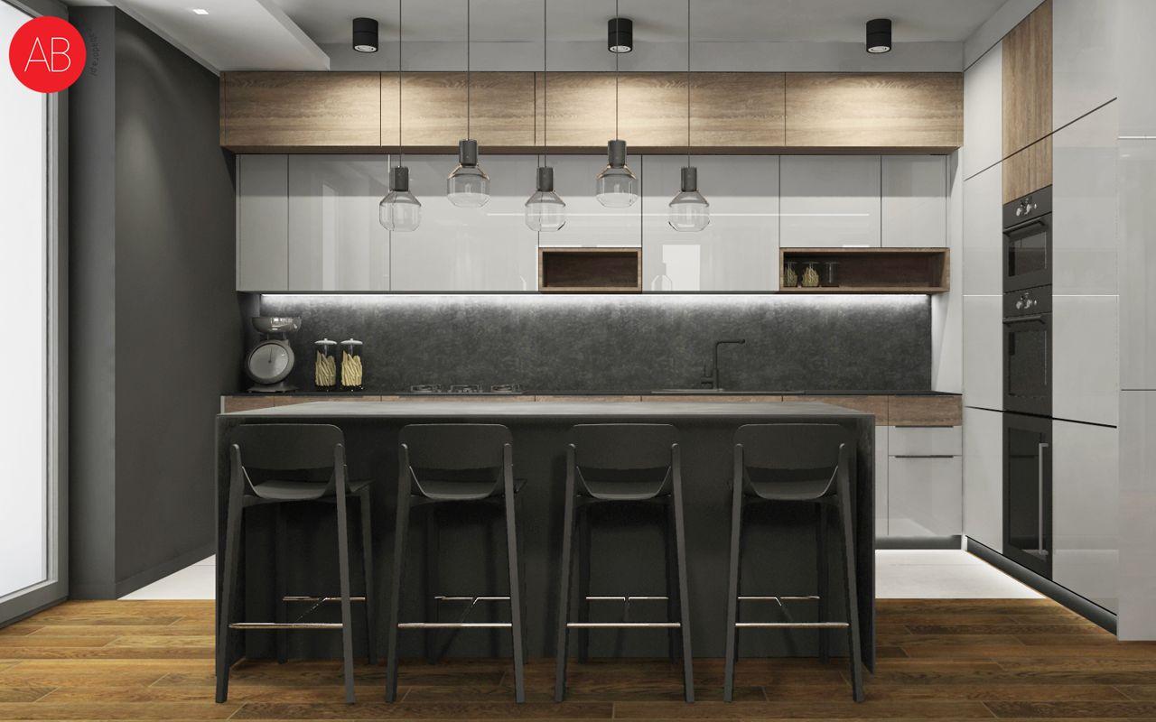 Dom pod dębem (salon) - projekt wnętrza mieszkania | Alina Badora, architekt wnętrz