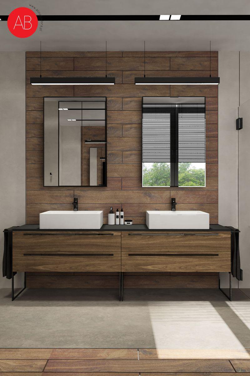 Dom pod dębem (łazienka, styl nowoczesny) - projekt wnętrza mieszkania | Alina Badora, architekt wnętrz