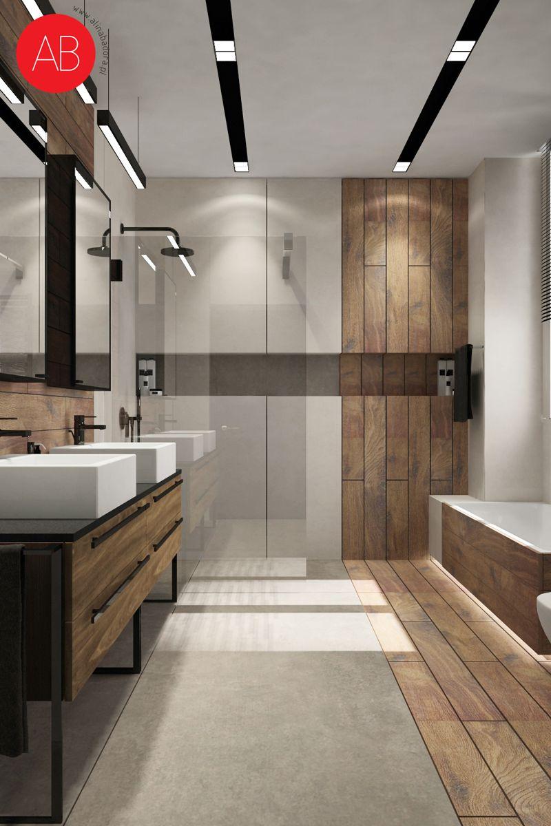Dom pod dębem (łazienka) - projekt wnętrza mieszkania | Alina Badora, architekt wnętrz