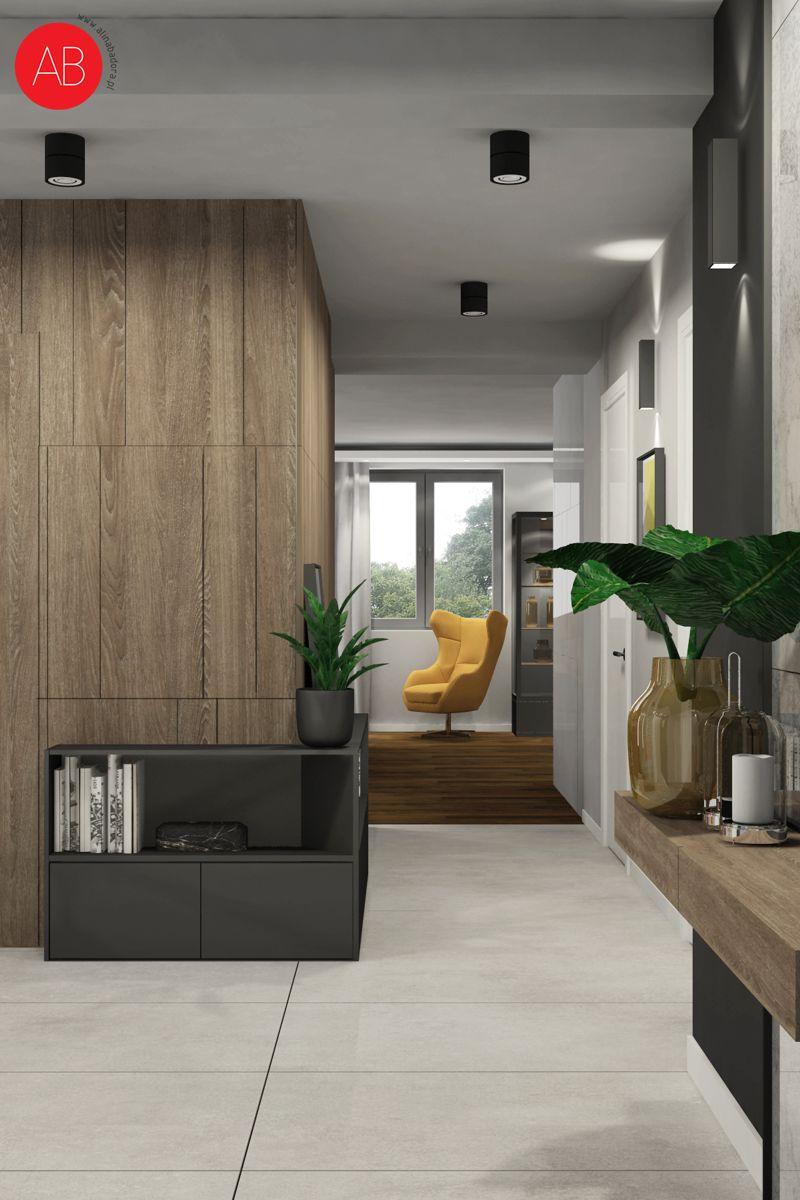 Dom pod dębem (hol) - projekt wnętrza mieszkania | Alina Badora, architekt wnętrz