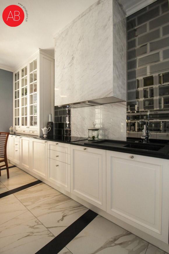 English afternoon (kuchnia) - projekt wnętrza mieszkania   Alina Badora, architekt wnętrz