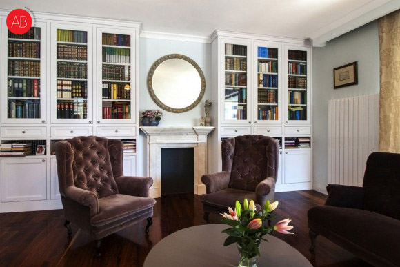 English afternoon (salon) - projekt wnętrza mieszkania   Alina Badora, architekt wnętrz
