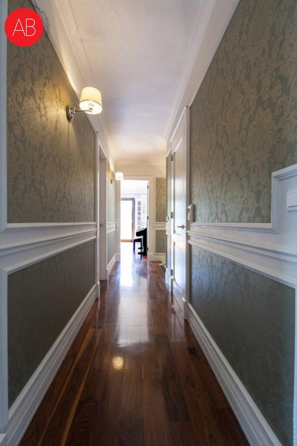 English afternoon (korytarz, styl angielski) - projekt wnętrza mieszkania   Alina Badora, architekt wnętrz