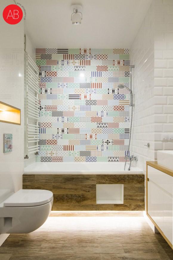 Hiszpańska wiosna (łazienka) - projekt wnętrza apartamentu | Alina Badora, architekt wnętrz