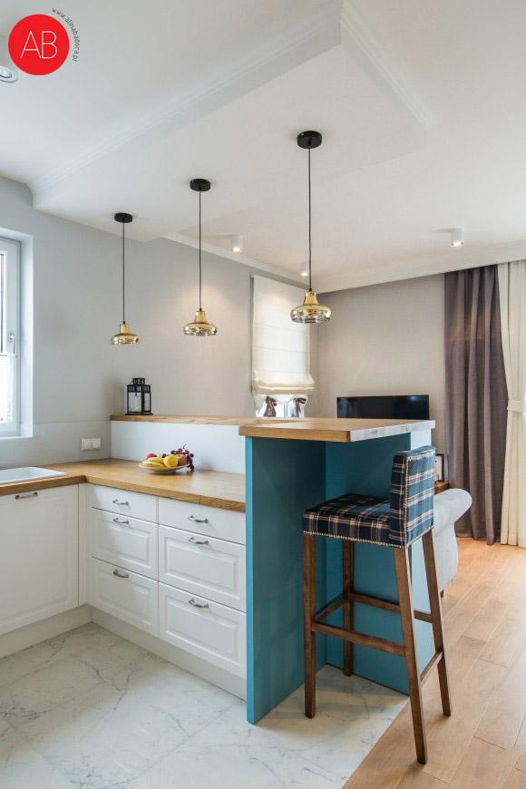 Hiszpańska wiosna (salon) - projekt wnętrza apartamentu | Alina Badora, architekt wnętrz