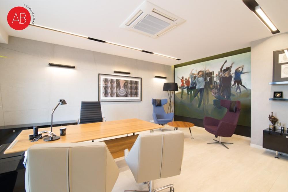 Męski punkt widzenia - projekt wnętrza biura firmy Korona Candles | Alina Badora, architekt wnętrz