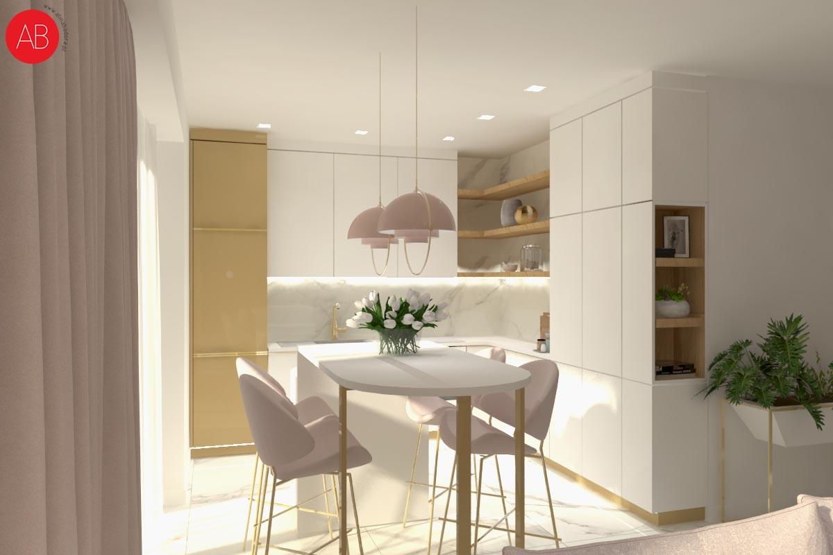 Mój kawałek nieba (kuchnia i jadalnia) - projekt wnętrza domu | Alina Badora, architekt wnętrz