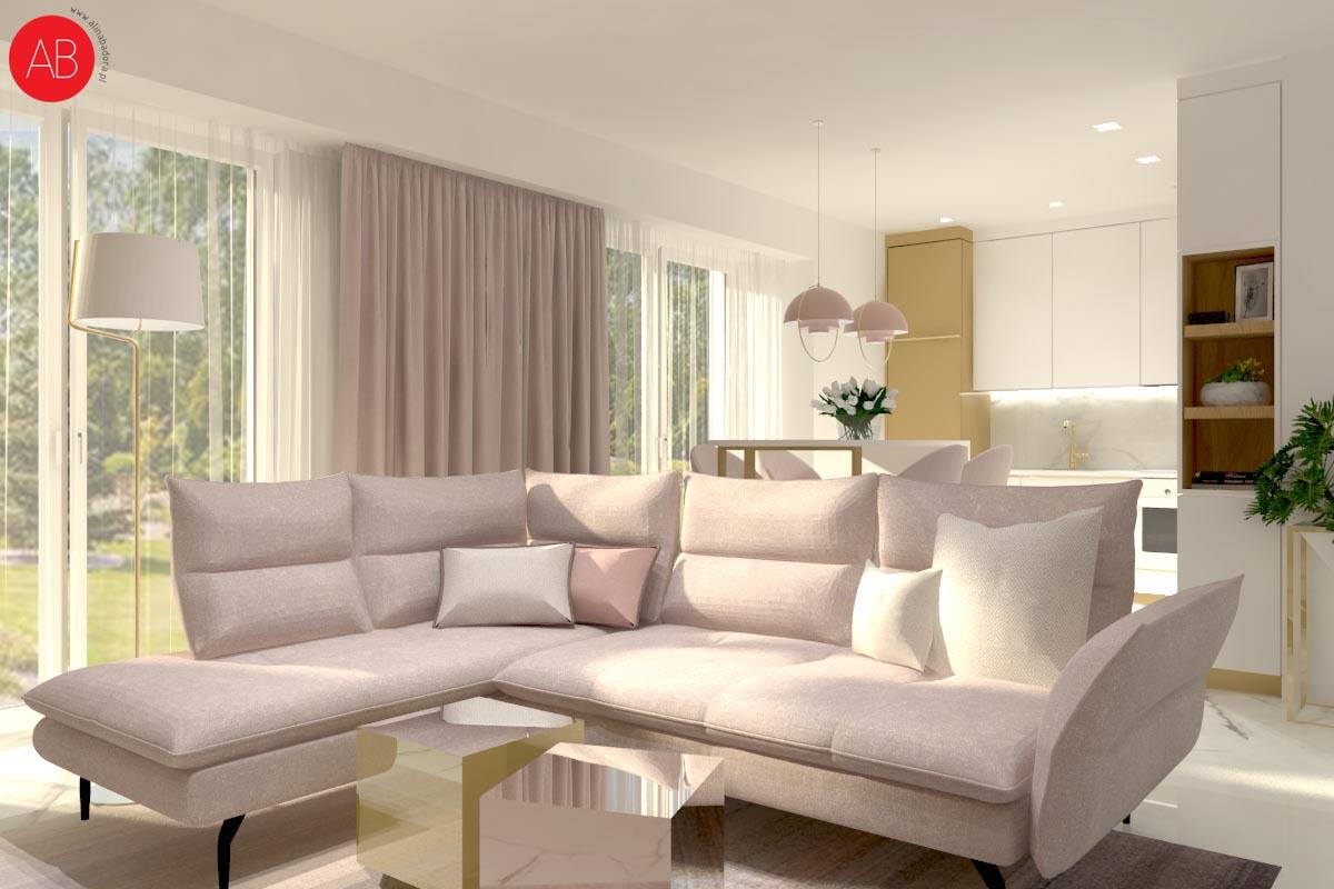 Mój kawałek nieba (salon) - projekt wnętrza domu | Alina Badora, architekt wnętrz