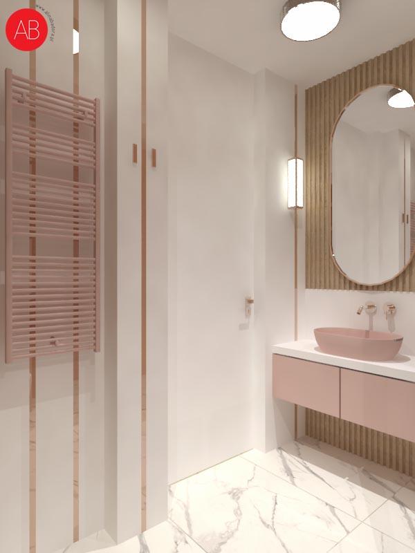Mój kawałek nieba (łazienka) - projekt wnętrza domu | Alina Badora, architekt wnętrz