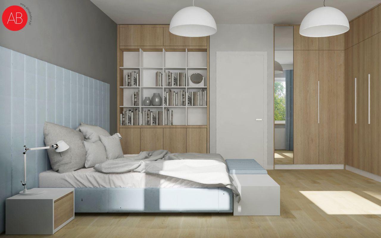 Pastelove ukojenie - projekt aranżacji domu (sypialnia)| Alina Badora, architekt wnętrz