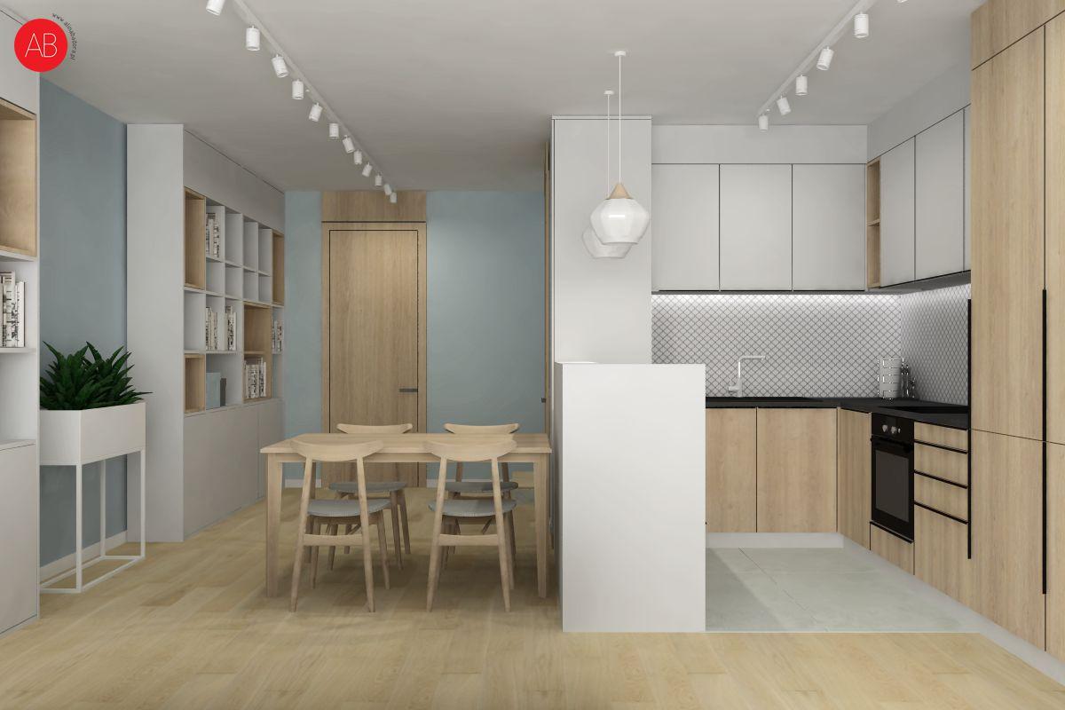 Pastelove ukojenie - aranżacja przestrzeni jadalni | Alina Badora, architekt wnętrz