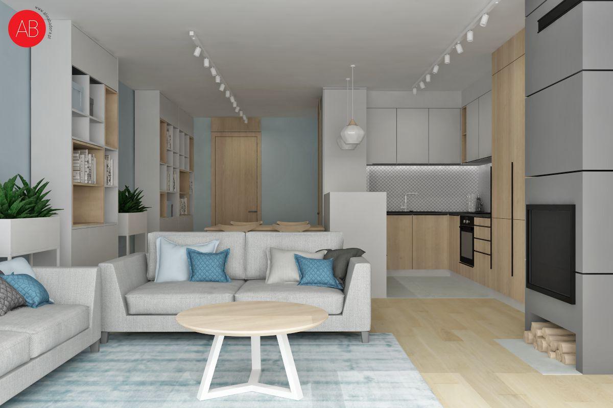 Pastelove ukojenie - aranżacja przestrzeni domu (salon) | Alina Badora, architekt wnętrz