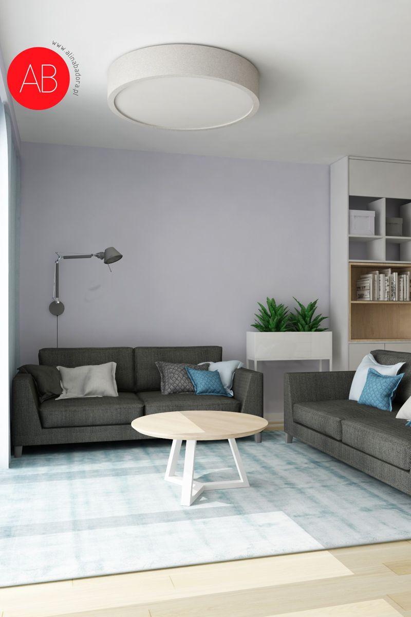Pastelove ukojenie - projekt aranżacji domu (salon) | Alina Badora, architekt wnętrz