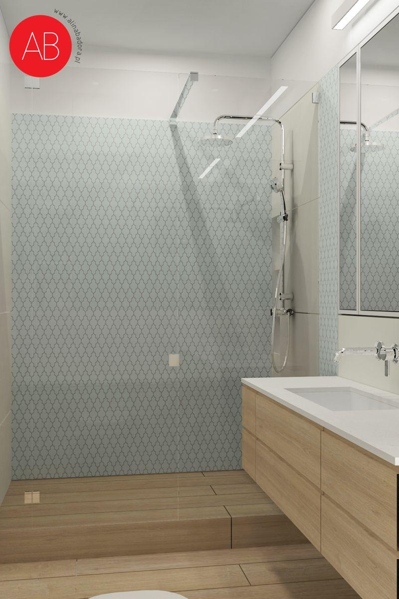 Pastelove ukojenie - projekt aranżacji domu (łazienka) | Alina Badora, architekt wnętrz