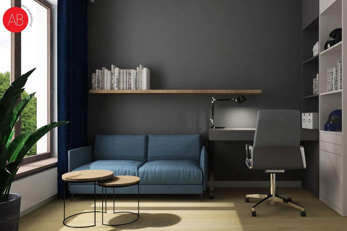 Poranna kawa (gabinet) - projekt wnętrza | Alina Badora, architekt wnętrz