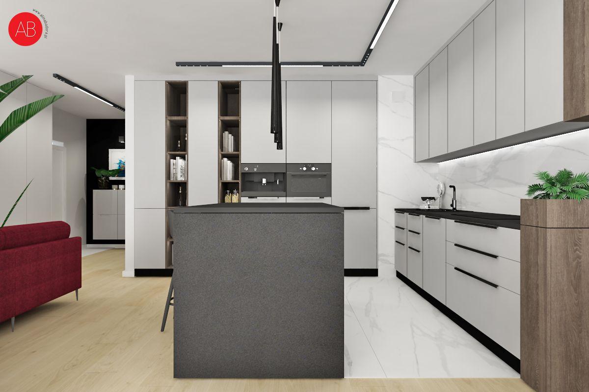 Poranna kawa (kuchnia) - projekt wnętrza | Alina Badora, architekt wnętrz
