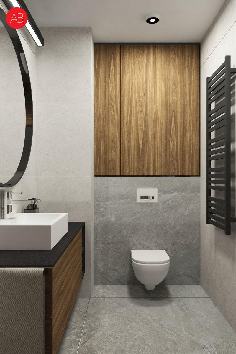 Poranna kawa (łazienka) - projekt wnętrza | Alina Badora, architekt wnętrz