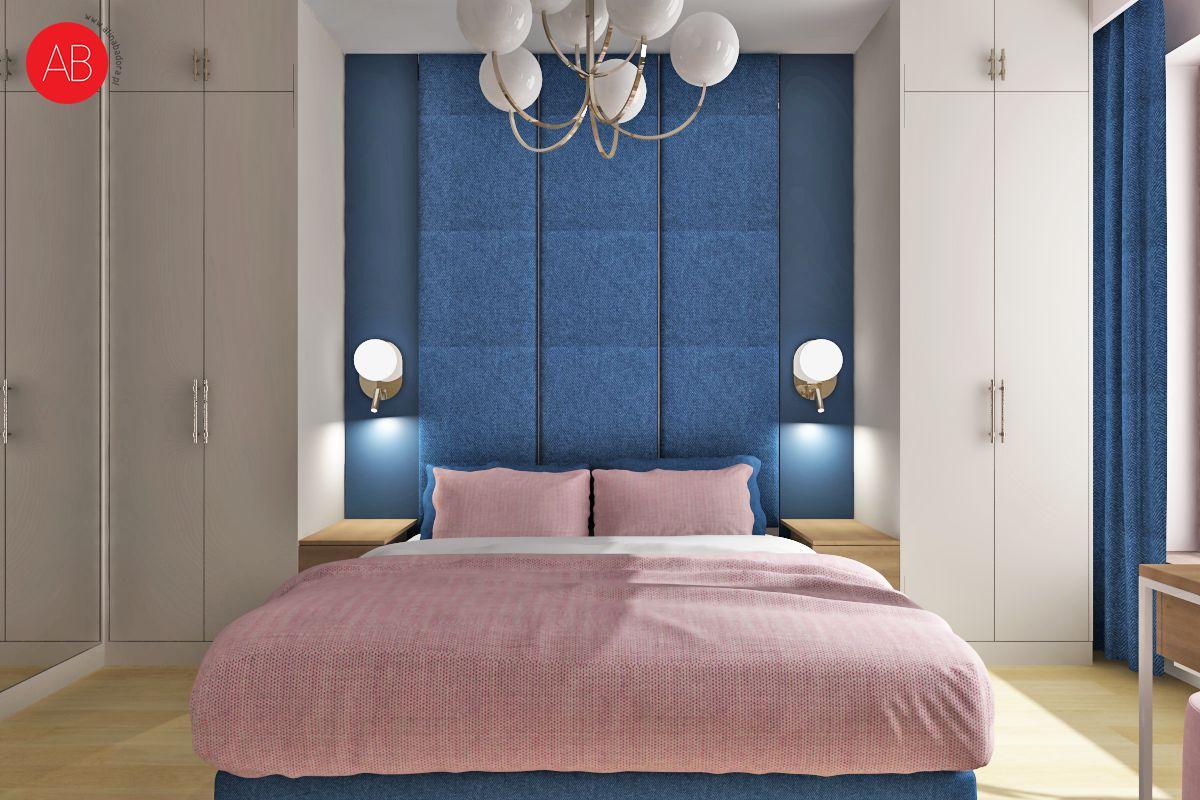 Poranna kawa (sypialnia) - projekt wnętrza | Alina Badora, architekt wnętrz