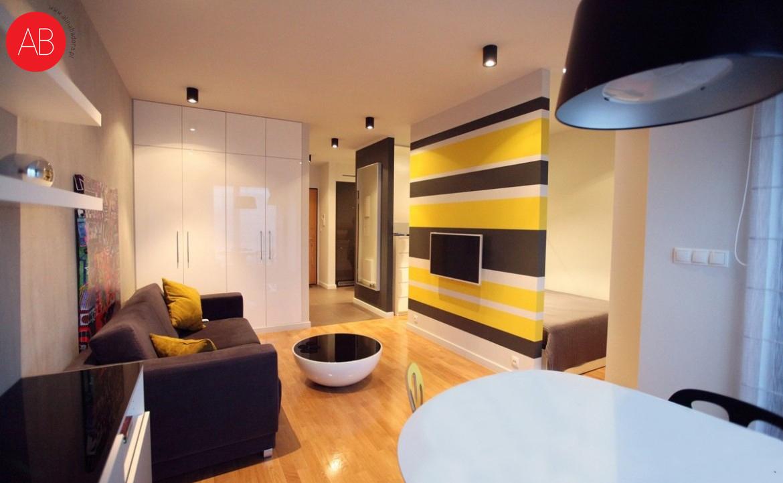 Słoneczny Poranek (salon) - projekt wnętrza | Alina Badora, architek wnętrz