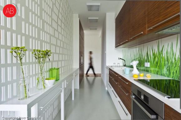 Śródziemnomorskie lato - projekt wnętrza domu (kuchnia, styl skandynawski)