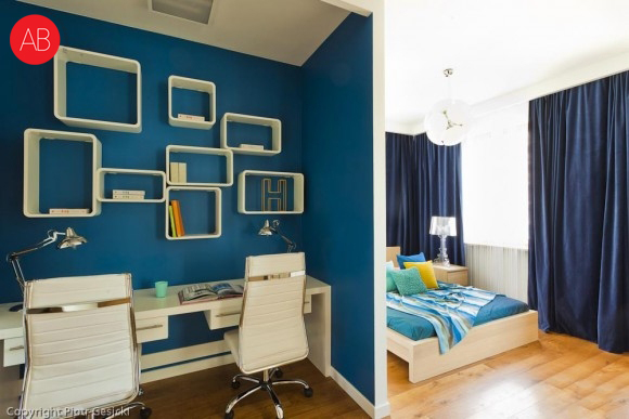 Śródziemnomorskie lato - projekt wnętrza domu (sypialnia) | Alina Badora, architekt wnętrz
