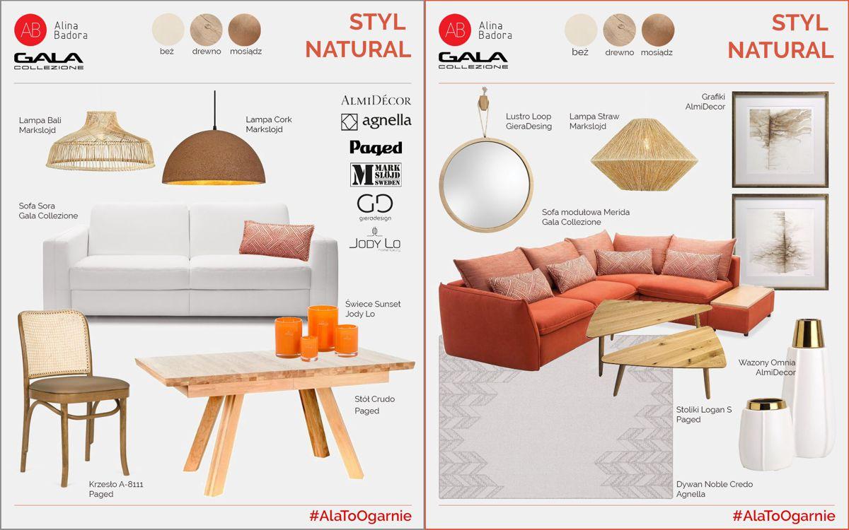 #AlaToOgarnie - artboard by Alina Badora, styl natural | akcja z Gala Collezione