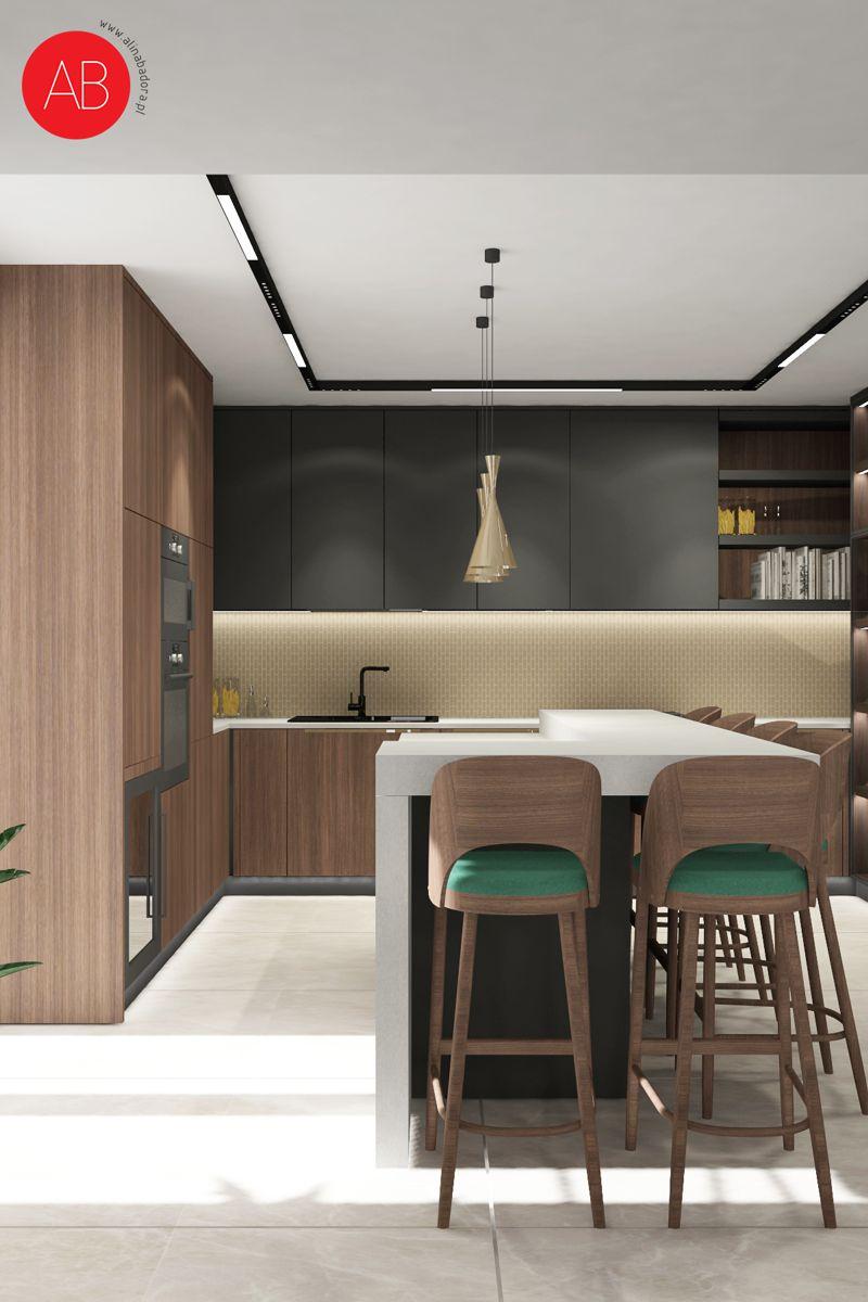Wiosenny Wawer - projekt wnętrza domu (kuchnia) | Alina Badora, architekt wnętrz
