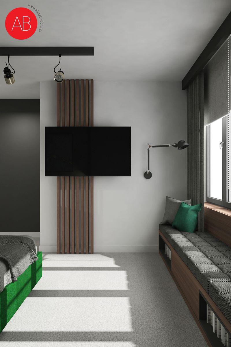Wiosenny Wawer (sypialnia) - projekt wnętrza domu | Alina Badora, architekt wnętrz