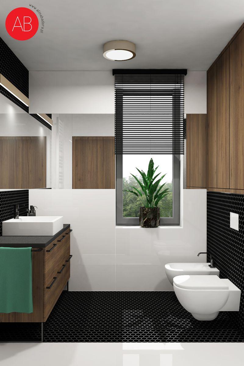 Wiosenny Wawer - projekt wnętrza domu (łazienka) | Alina Badora, architekt wnętrz