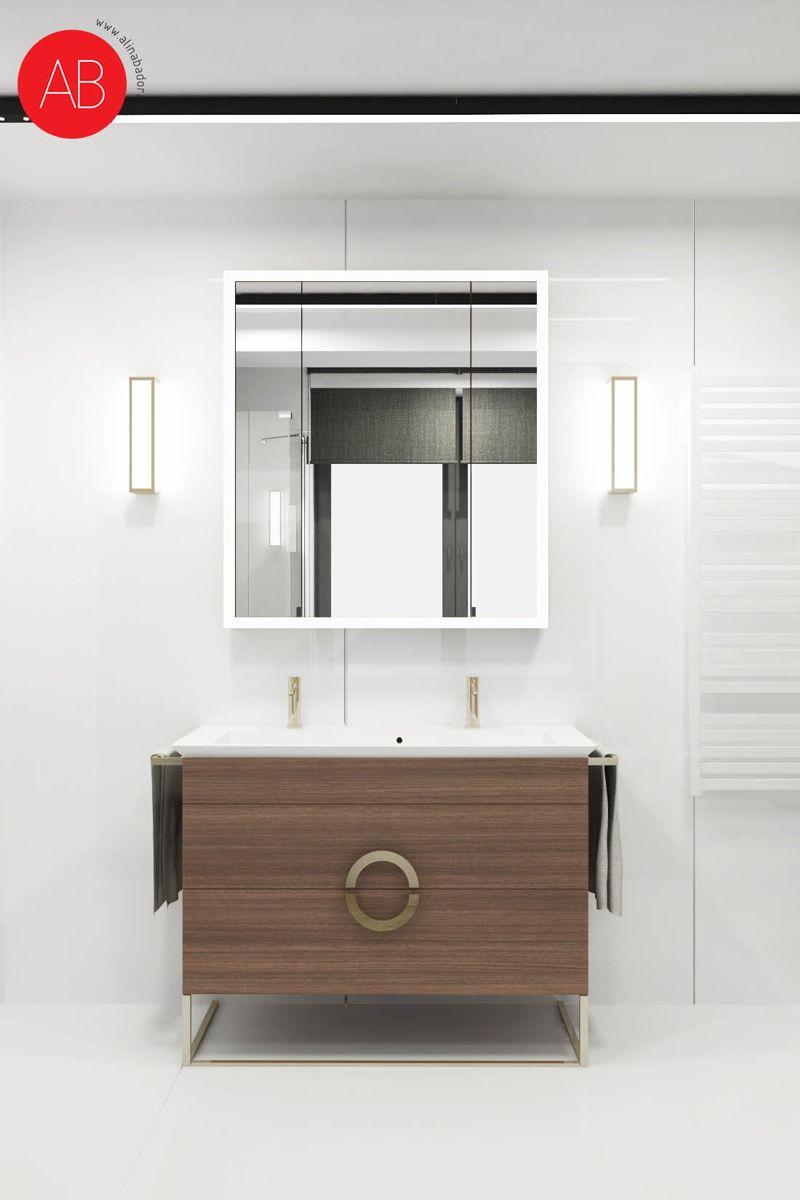 Wiosenny Wawer (łazienka) - projekt wnętrza domu | Alina Badora, architekt wnętrz