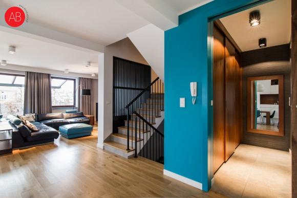 Optymistyczny salon - projekt wnęrza | Alina Badora, architekt wnętrz