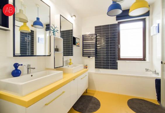 Włoskie wakacje (łazienka) - projekt wnęrza | Alina Badora, architekt wnętrz