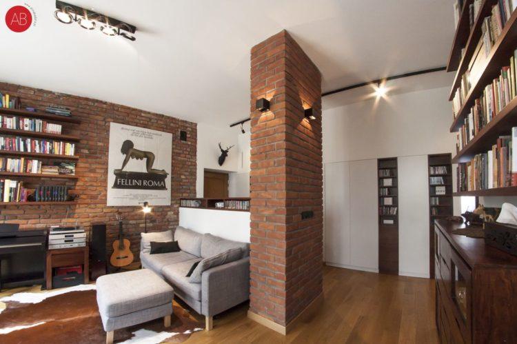 Styl klasyczny - projekt wnętrza mieszkania (salon)   Alina Badora, architekt wnętrz
