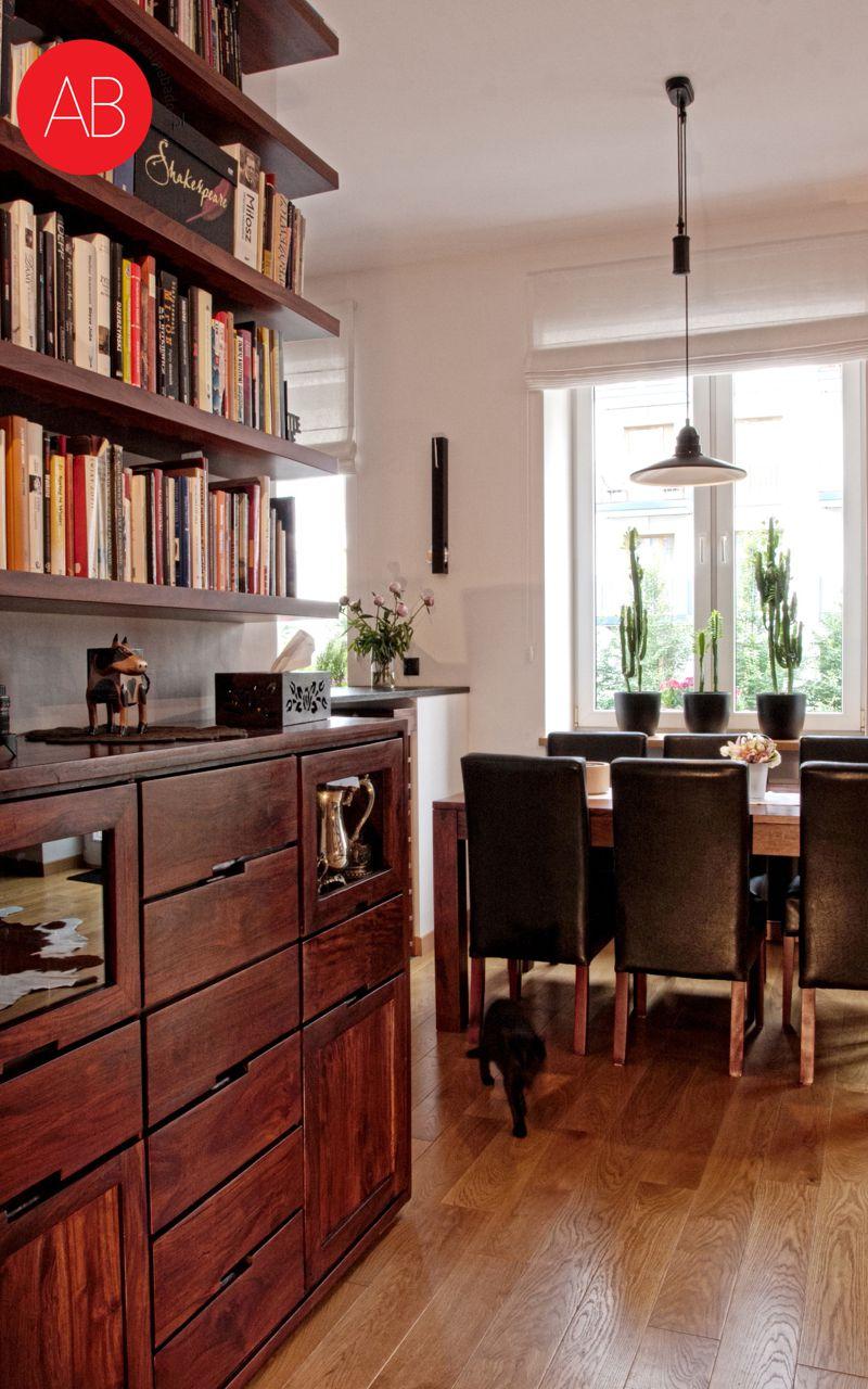 Z nutką nostalgii - projekt wnętrza mieszkania styl klasyczny (jadalnia)